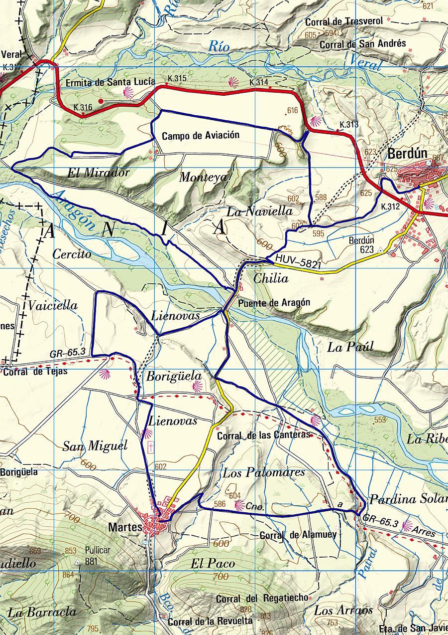 Ruta circular entre Berdún y Martes